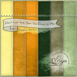 Don't Let the Sun Go Down on Me - paper pack 34