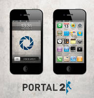 Portal 2 iPhone/iPad Wallpaper Lite