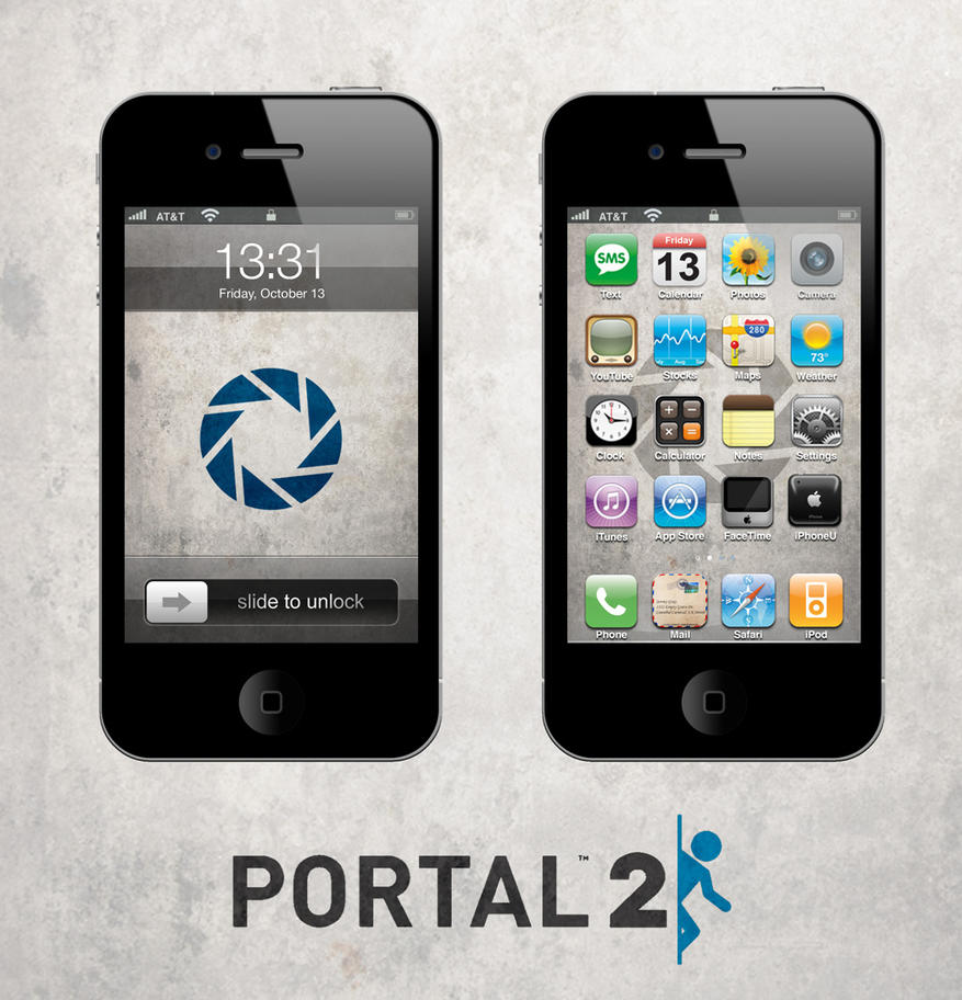 portal 2 iphone ipad wallpaper lite by sirpatrick1st on deviantart. Black Bedroom Furniture Sets. Home Design Ideas