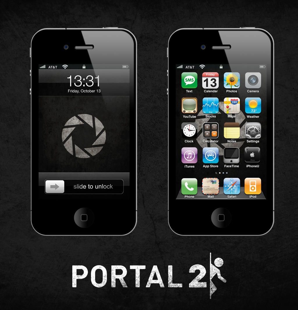 Portal 2 iPhone/iPad Wallpaper Dark by SirPatrick1st