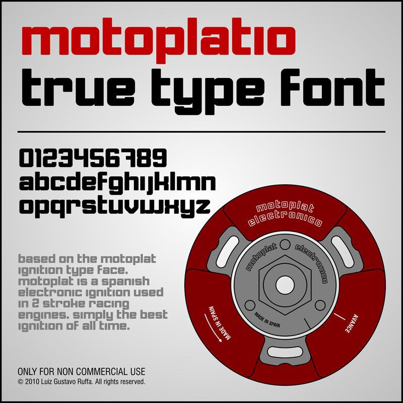 Motoplatio Font by LGRuffa