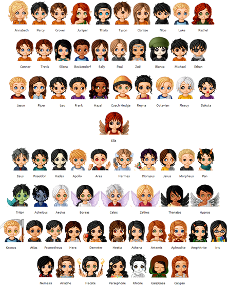 Percy Jackson and Heroes of Olympus Characters by ThaliaPJ-KatnissTHG