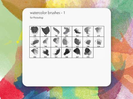 watercolor brushes - 1