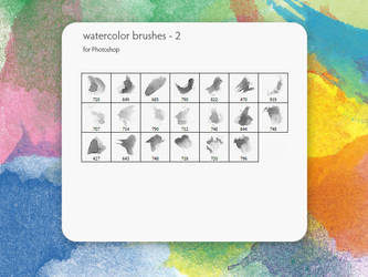 watercolor brushes - 2