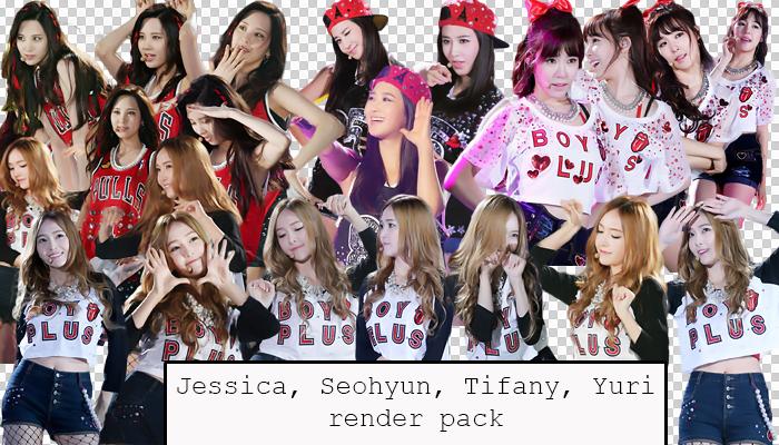 SNSD (Jessica, Seohyun, Yuri, Tiffany) render pack by Luhye
