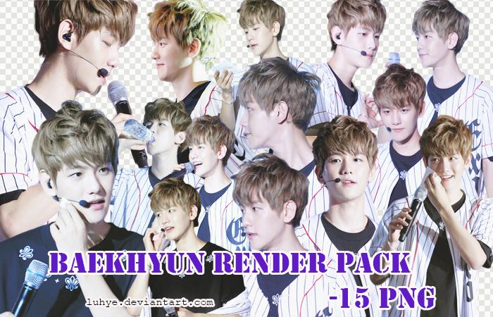 Baekhyun render pack by Luhye