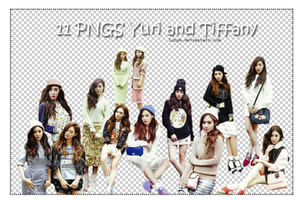 Yuri and Tiffany render pack (11 pngs) by Luhye
