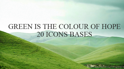 20 icons bases - GREEN by LisaRents