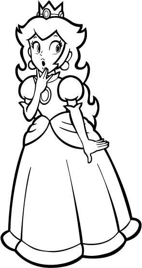 Bowser kidnapping peach free coloring pages for Free printable princess peach coloring pages
