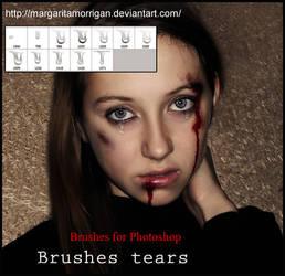 brushes tears by margarita-morrigan