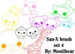 San-X Brush Set 4