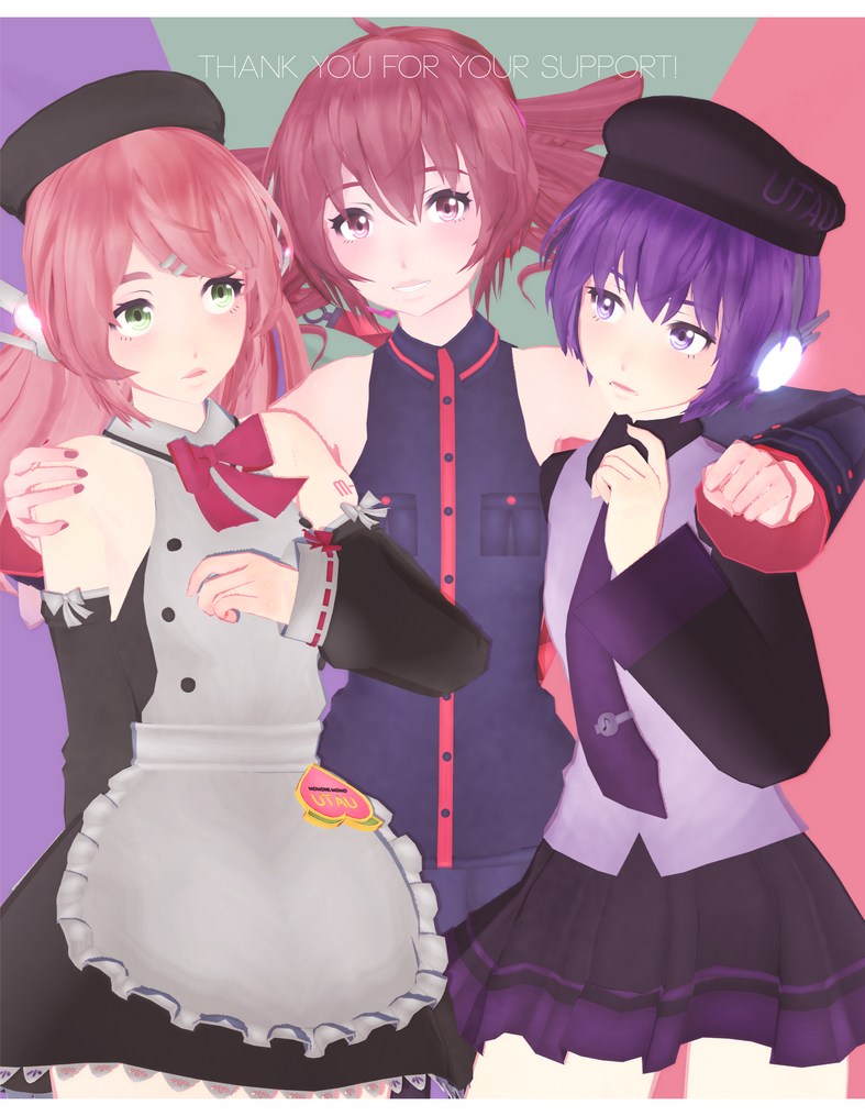 DL: Tda Momo, Teto and Uta [thank you gift pt 1] by Jjinomu