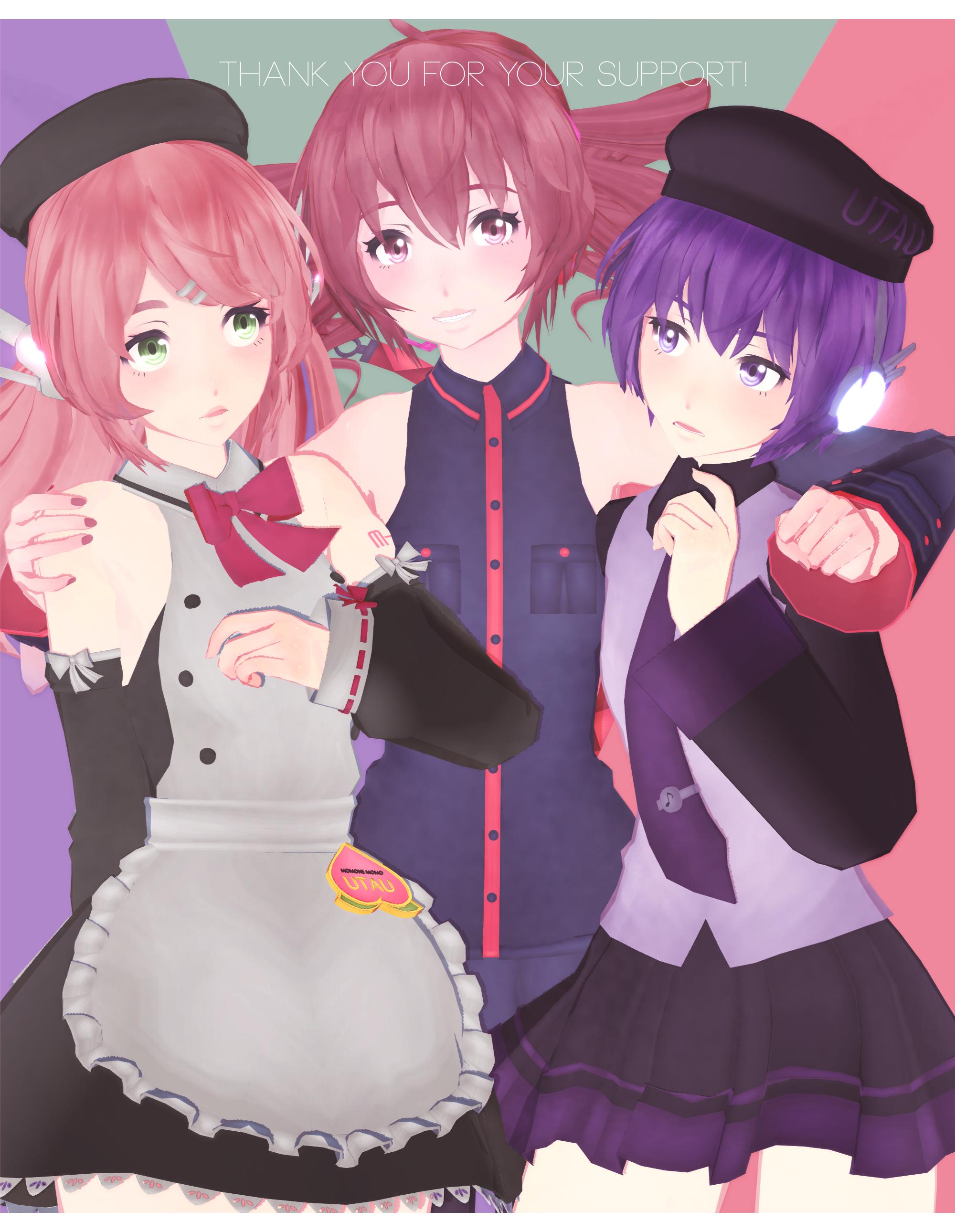 DL: Tda Momo, Teto and Uta [thank you gift pt 1] by Jjinomu