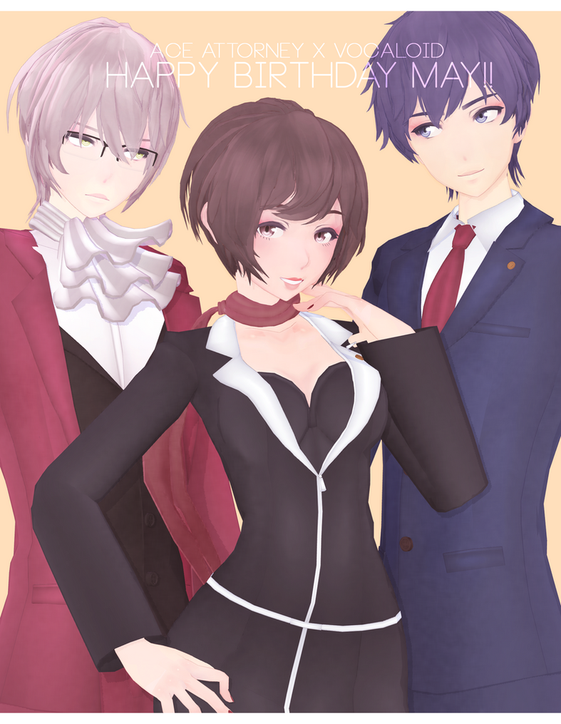 Tda Ace Attorney x Vocaloid [HBD MAY 2K17] by Jjinomu