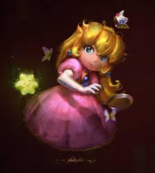 Princess Peach - SMRPG Fanart [GIF] by yoshiyaki