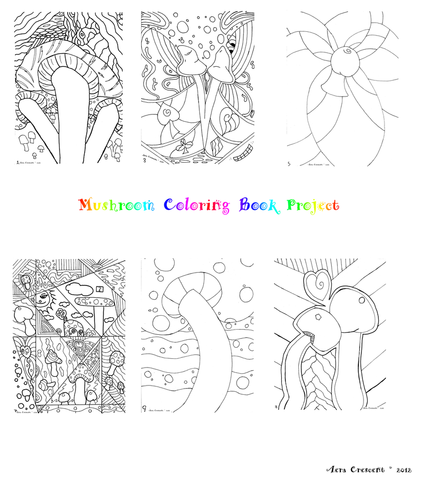 Mushroom Coloring Book Project by LiquidCandyRainbow on DeviantArt