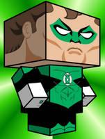Hal Jordan_Green Lantern Cubee by Pankismo