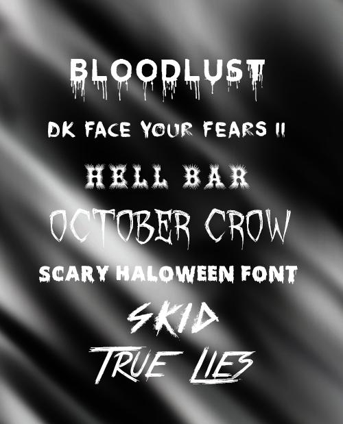 Halloween Fonts 2015 by SecretLikeAGhost
