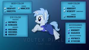Voltex Pixel - Pony (G4) - Color Guide (PDF) by VoltexPixel