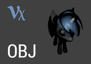 Voltex Pixel - Pony - 3D Model - OBJ