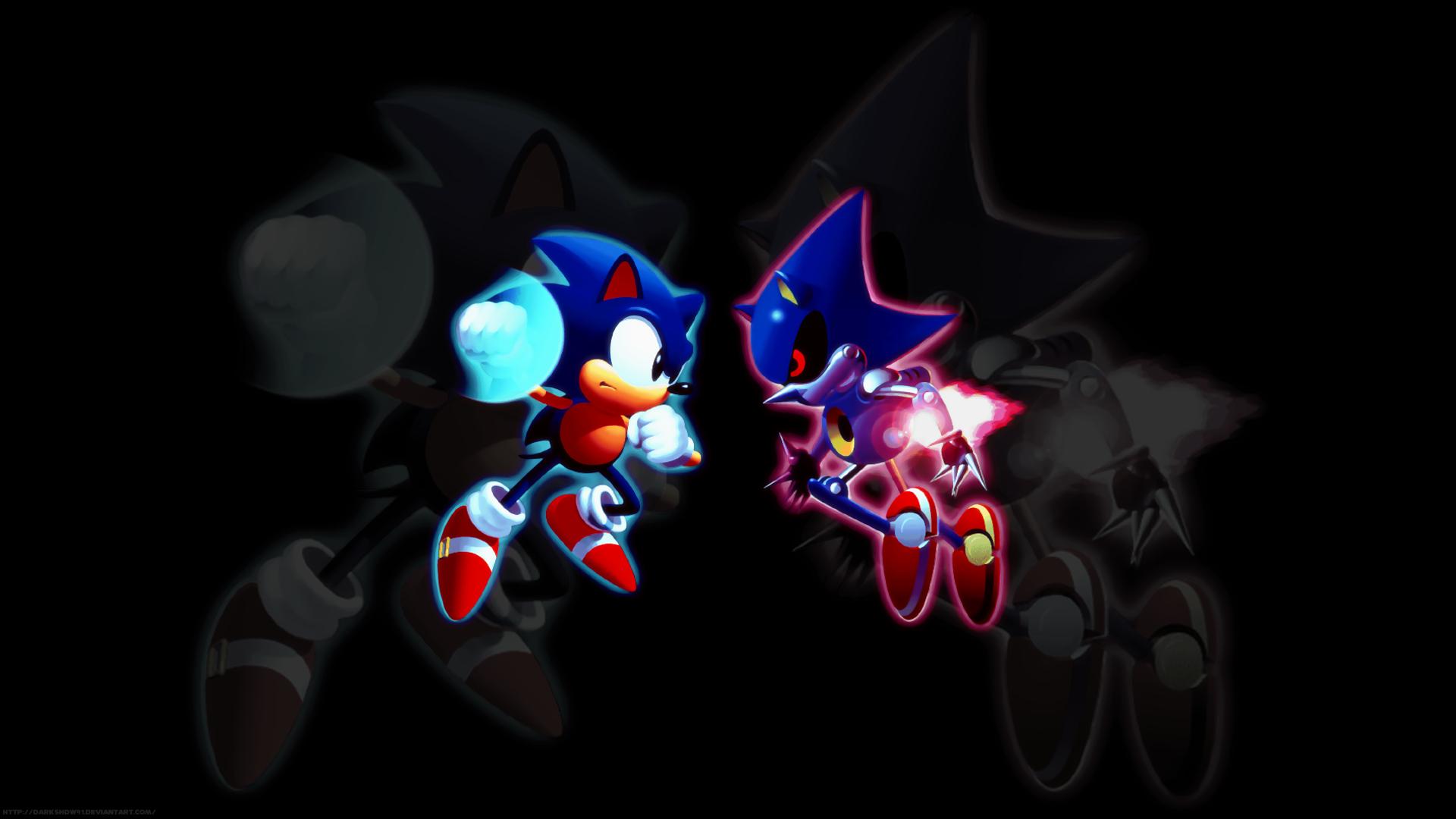 Sonic Vs Metal Sonic By Darkshdw91 On Deviantart
