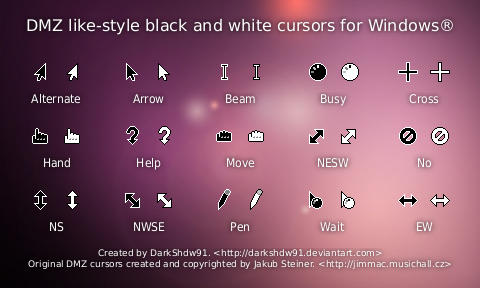 DMZ style cursors for Windows by DarkShdw91