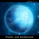 Planet and Background - stock