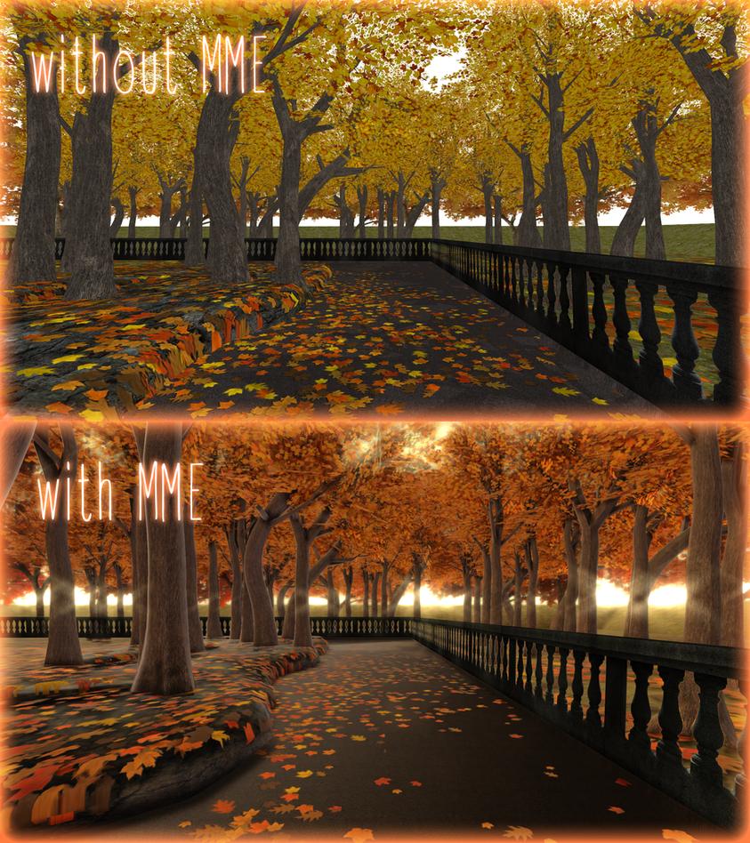 [MMD DL]Autumn alley [effects list in description] by ketokeas