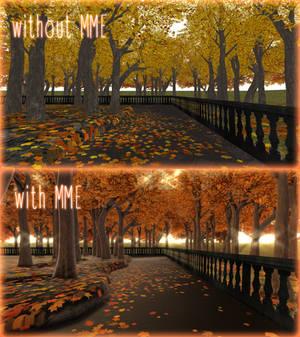 [MMD DL]Autumn alley [effects list in description]