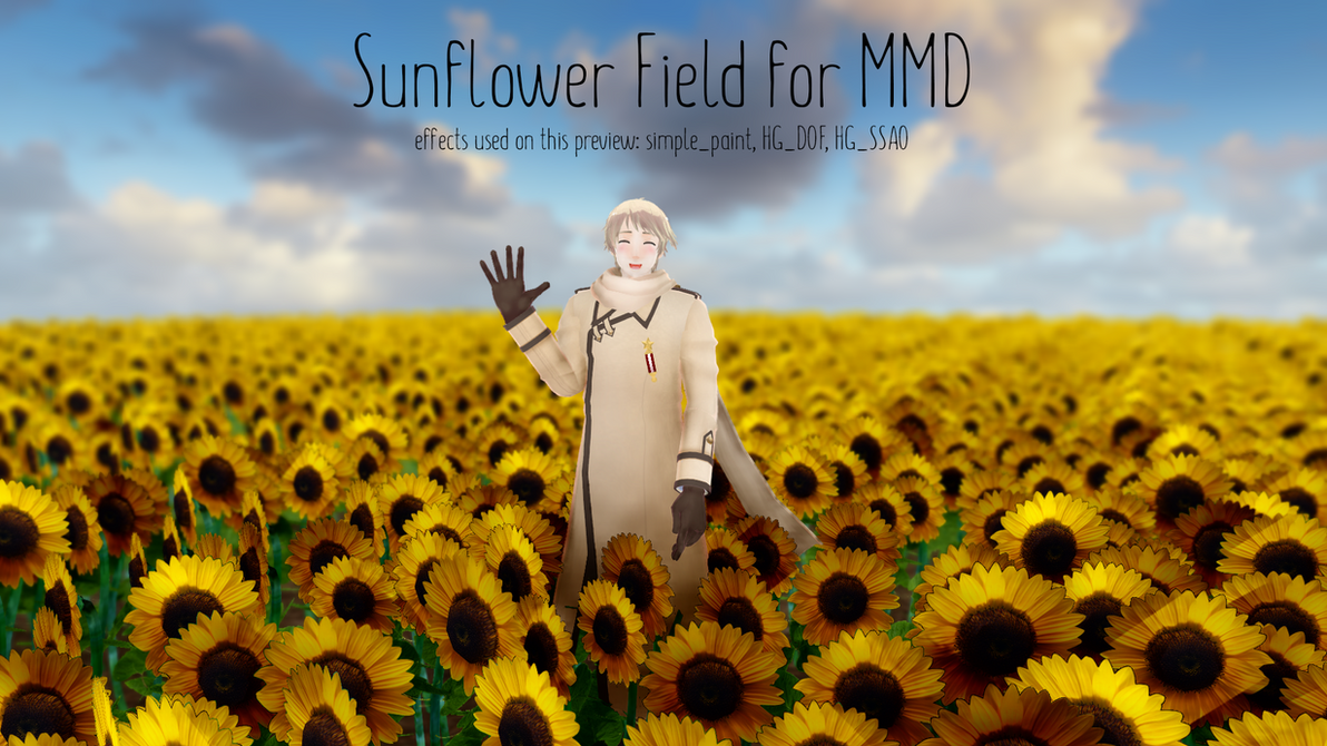 Sunflower Field [MMD DL] by ketokeas