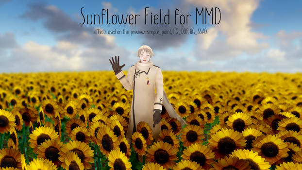 Sunflower Field [MMD DL]