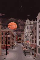 a quiet street by radshoe
