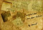 Various torn paper textures