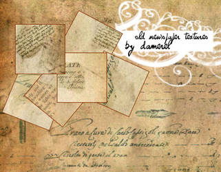 Old newspaper + paper textures by damerel