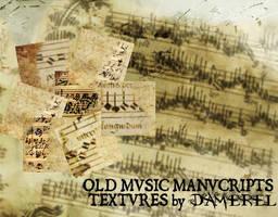 Textures: Old Music Manuscript by damerel