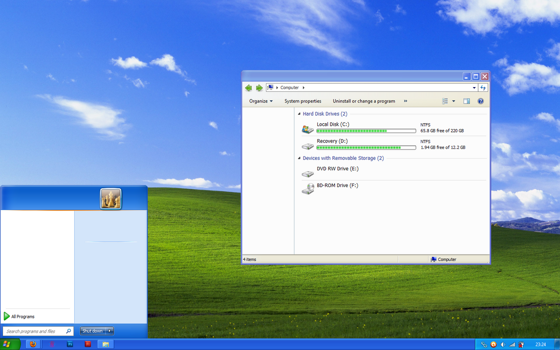 Windows XP theme for Windows 7