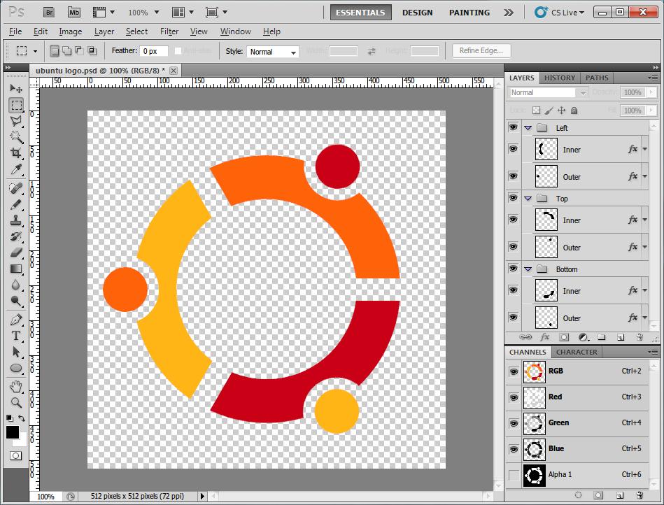 Ubuntu Logo PSD by Satukoro