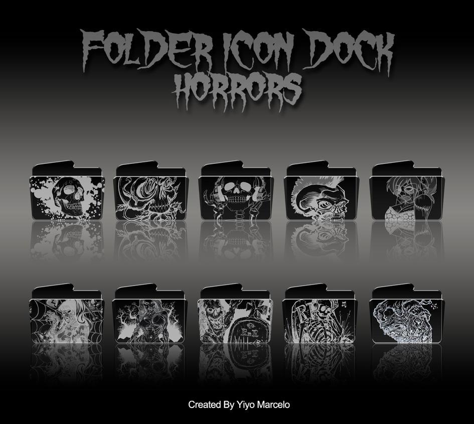 FOLDER ICON DOCK HORRORS by yiyo-marcelo