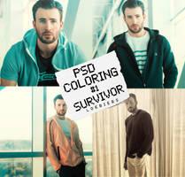 PSD COLORING #1| SURVIVOR. by LoeBiebs