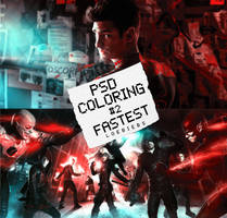 PSD COLORING #2| FASTEST. by LoeBiebs