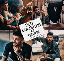 PSD COLORING #3| dRuNk by LoeBiebs