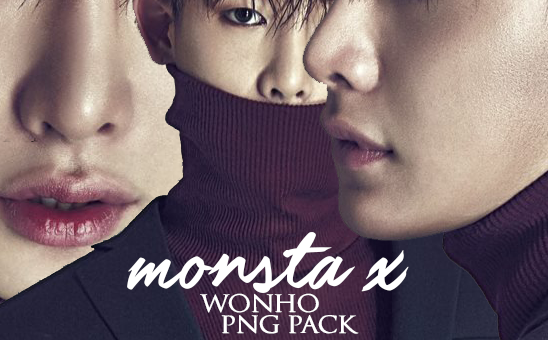 Monsta X Wonho PNG PACK by Yan's by ImHanny2615