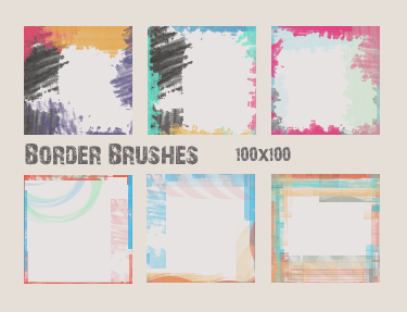14 Icon Border Brushes by cishkash