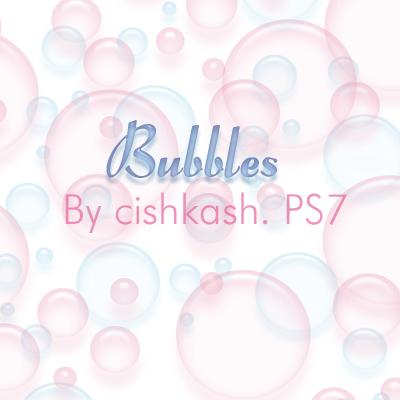 Brushes: Bubbles by cishkash