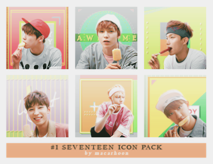 #1 Seventeen Icon Pack by macarhoon