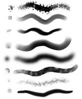 Converted FireAlpaca Brushes by KittyKittyKittyzz