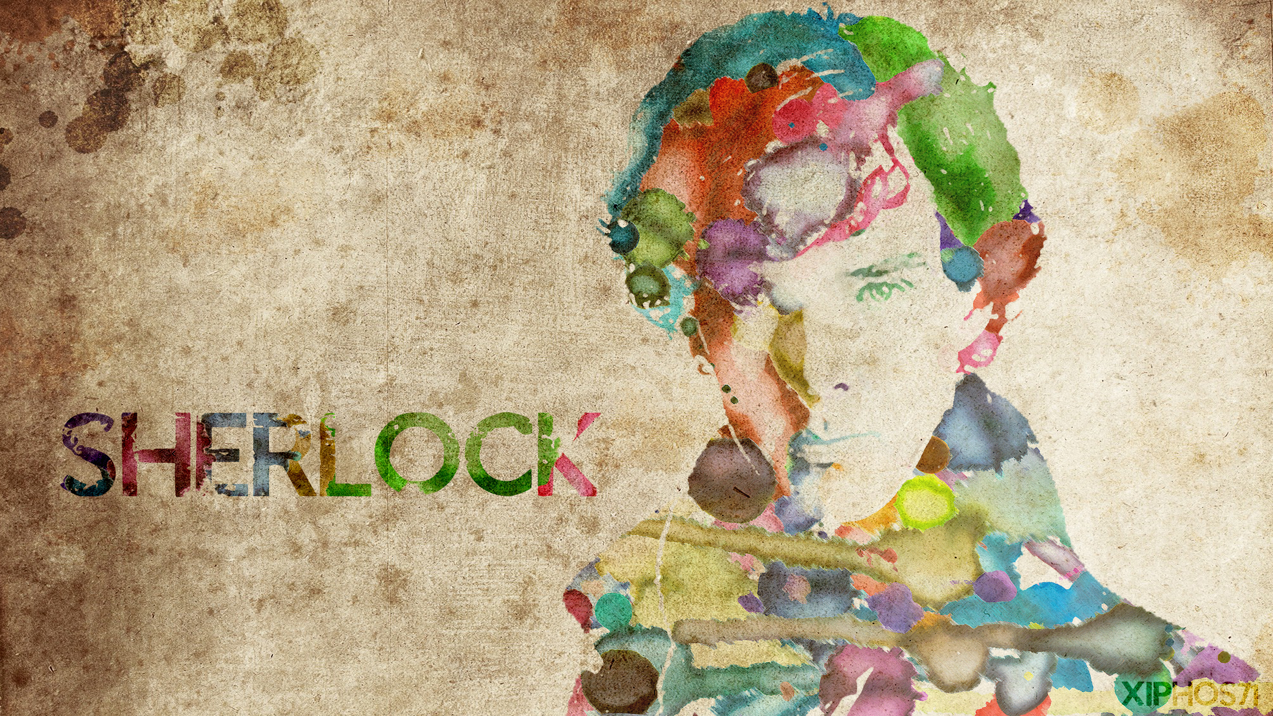 Sherlock Fan Art Wallpaper Sherlock Watercolor By Xiphos Dzbvj