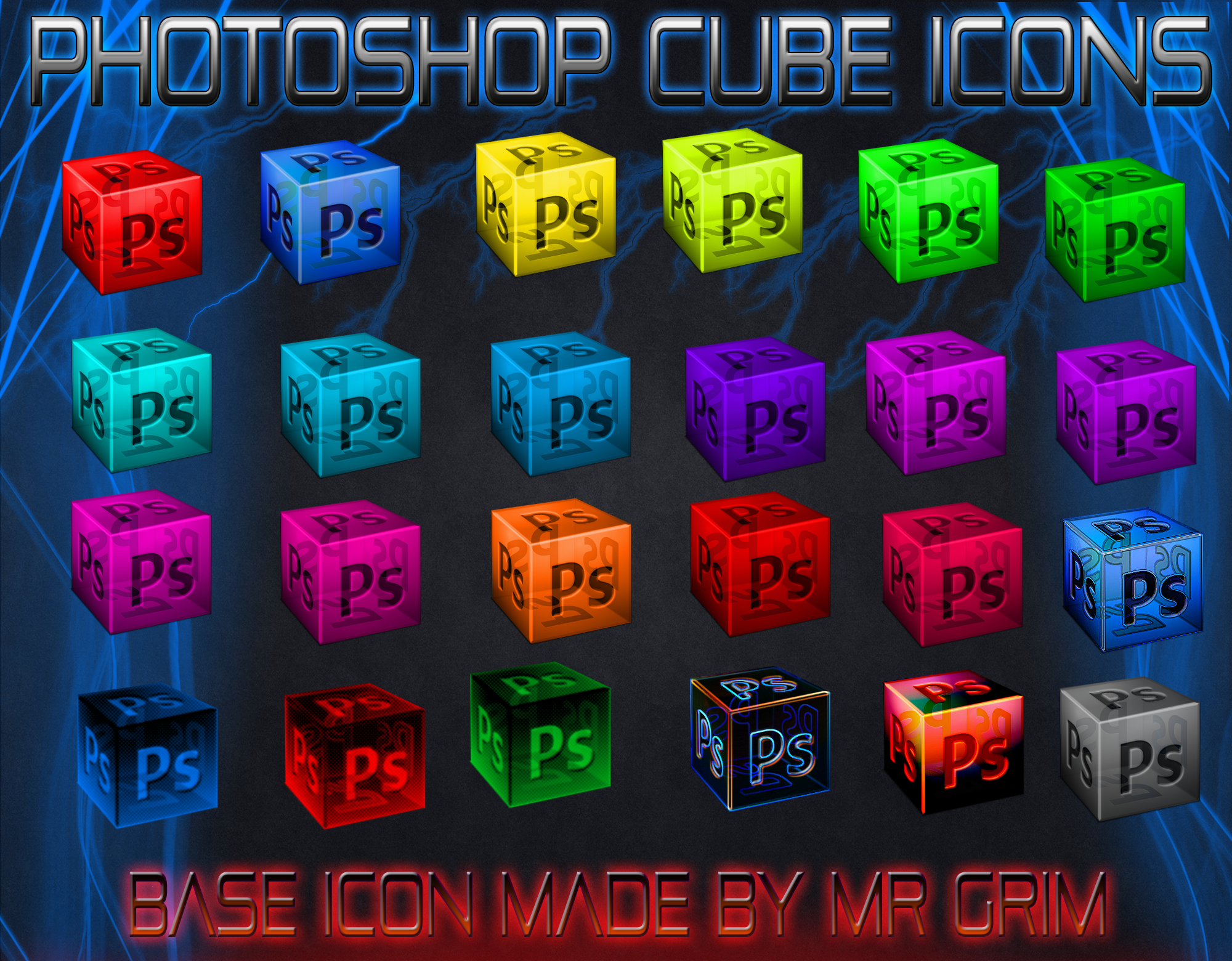 Photoshop Cube Dock Icons by FalconJus