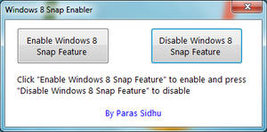 Windows 8 Snap Enabler by parassidhu