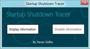Startup Shutdown Tracer by parassidhu
